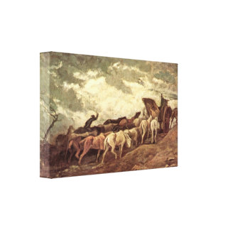 Honore Daumier - horse-drawn Stretched Canvas Prints
