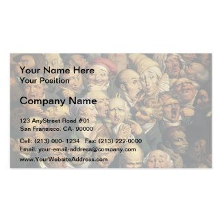 Honore Daumier:Meeting of heads of expression Business Card Templates