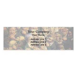 Honore Daumier:Meeting of heads of expression Business Card