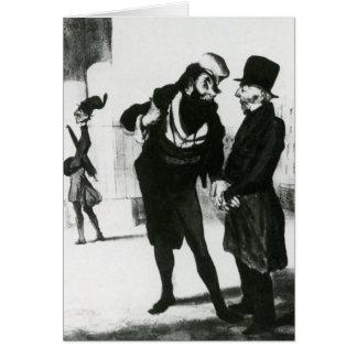 Honore Daumier: Robert Macaire Business Men Greeting Card