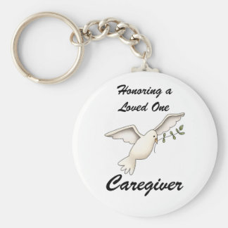Honoring a Loved One Caregiver Keychain