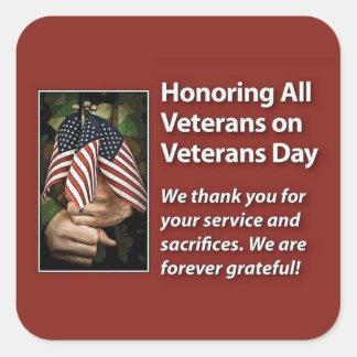 Honoring All Veterans Veterans Day Stickers