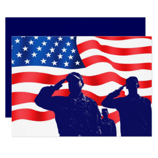 Honoring all who served. Veterans Day  Flat Cards