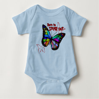 Honoring Diversity: Born to Stand Out Butterfly Baby Bodysuit