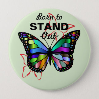 Honoring Diversity Born to Stand Out Butterfly Pin
