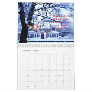 Honoring Our American Flag 2018 Calendar