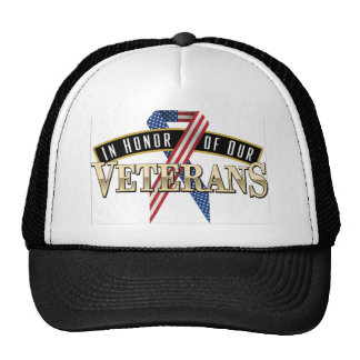 Honoring Veterans Logo Ribbon Cap