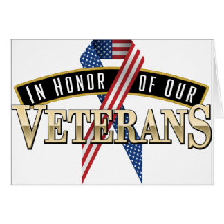 Honoring Veterans Logo Ribbon Card