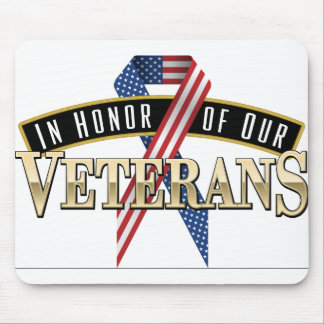 Honoring Veterans Logo Ribbon Mouse Pad