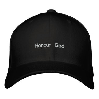 Honour God Embroidered Hats