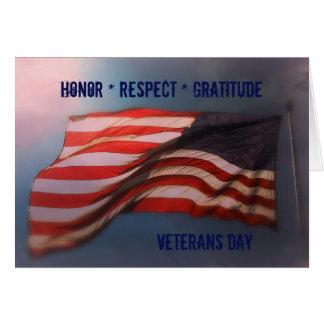 Honour Respect Gratitude - Thank You Veterans Card