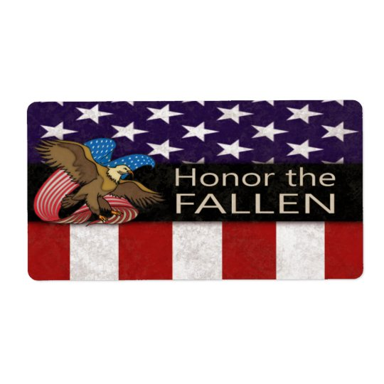 Honour the Fallen Military Shipping Label