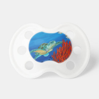 Honu and Black Coral Baby Pacifiers