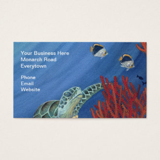 Honu and Black Coral Business Card