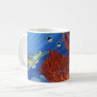 Honu and Black Coral Coffee Mug