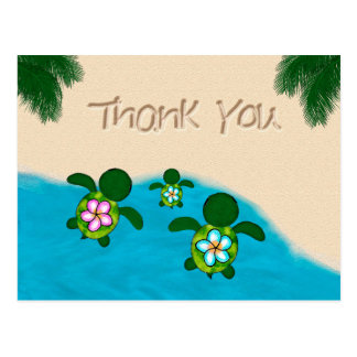 Honu Baby BOY Sea TURTLE Thank You Boys Blue #281 Postcard