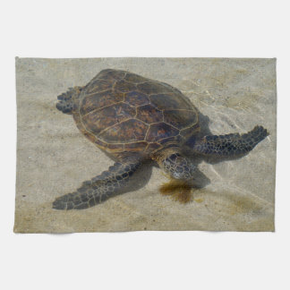 Honu Eating Limu Tea Towel