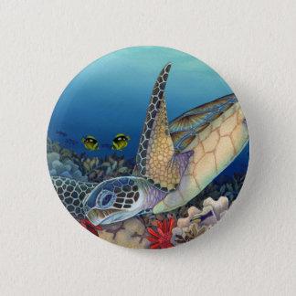 Honu (Green Sea Turtle) 6 Cm Round Badge