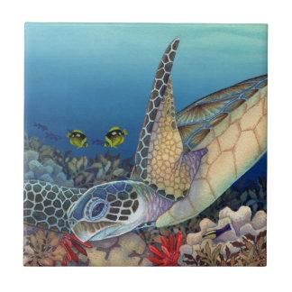 Honu (Green Sea Turtle) Ceramic Tile