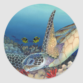 Honu (Green Sea Turtle) Classic Round Sticker