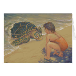 Honu (Green Sea Turtle) Greetings Card