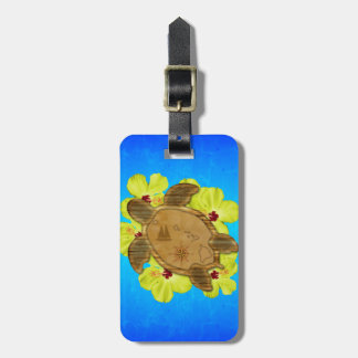 Honu Hawaiian Nautical Map Luggage Tag