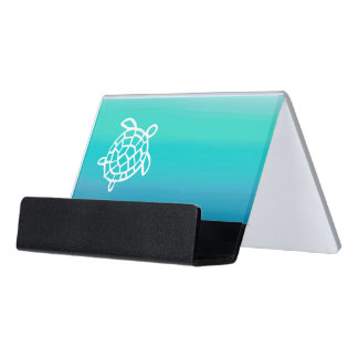 Honu Ocean Sea Turtle Desk Business Card Holder