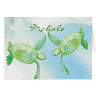 Honu Pair Thank you cards
