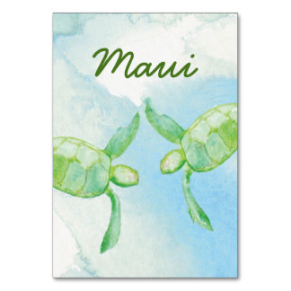 Honu Pair Wedding Table Card