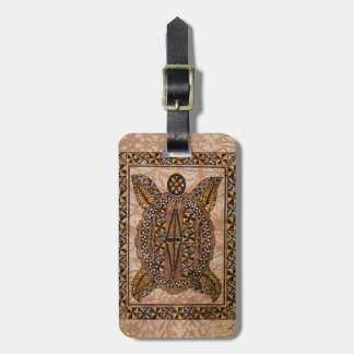 Honu Primitive Hawaiian Tattoo Tapa Luggage Tag