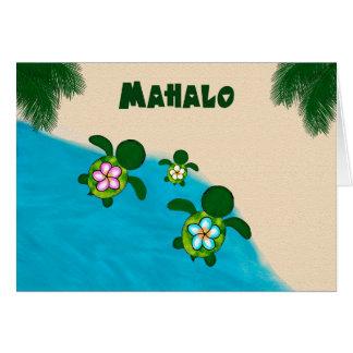 Honu Sea TURTLE Baby Shower Thank You YELLOW Card