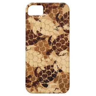 Honu Sea Turtle Hawaiian Aloha Faux Koa Wood Case For The iPhone 5