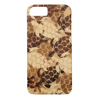 Honu Sea Turtle Hawaiian Aloha Faux Koa Wood iPhone 8/7 Case