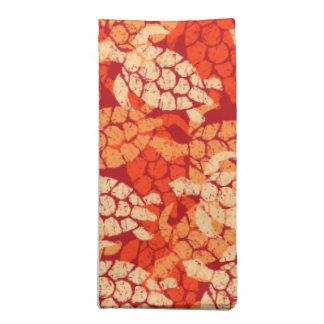 Honu Sea Turtle Hawaiian Aloha -Orange Napkin