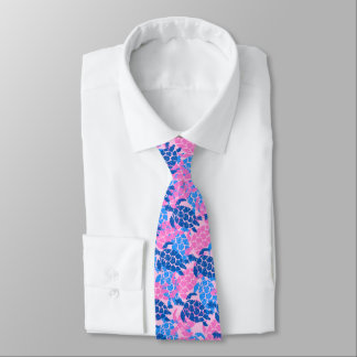 Honu Sea Turtle Hawaiian Aloha - Pink Tie
