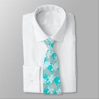Honu Sea Turtle Hawaiian Aloha - Seafoam Tie
