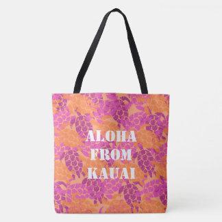 Honu Sea Turtle Hawaiian Monogram Aloha Beach Bag
