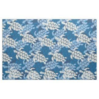 Honu Sea Turtle Hawaiian Tapa -Indigo Fabric