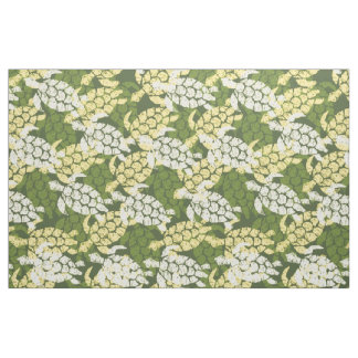 Honu Sea Turtle Hawaiian Tapa -Olive Fabric