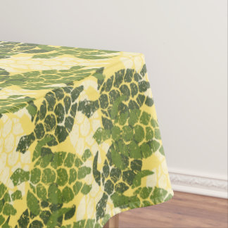Honu Sea Turtle Hawaiian Tapa -Olive Tablecloth