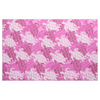 Honu Sea Turtle Hawaiian Tapa -Pink Fabric