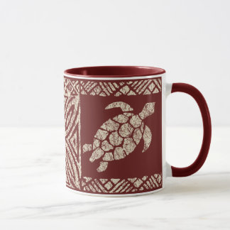 Honu Tapa Hawaiian Primitive Turtle Mug