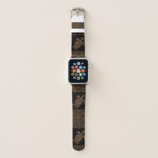 Honu Tapa Hawaiian Turtle Primitive Apple Watch Band