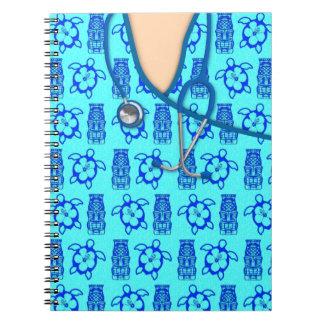 Honu Tiki Island Medical Scrubs Notebooks