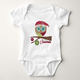 Hoo, Hoo, Hoo, Merry Christmas Baby Bodysuit