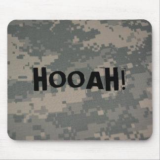 Hooah Camouflage ACU Pattern Troops Deployment Vet Mouse Pad