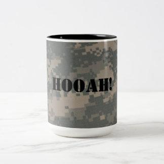 Hooah Camouflage ACU Pattern Troops Deployment Vet Mug