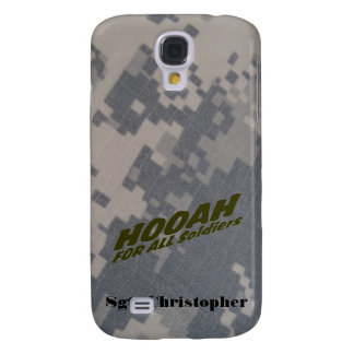 Hooah For all Soldiers Personalize Galaxy S4 Covers