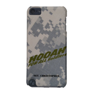 """""""Hooah For All Soldiers"""" Personalized iPod Touch (5th Generation) Cover"""