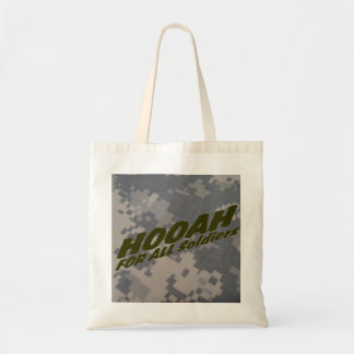 Hooah for all Soldiers Budget Tote Bag